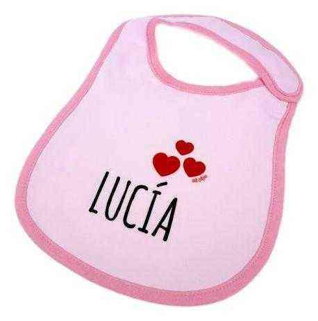 babero bebe corazones personalizado original