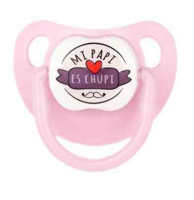 chupete gracioso papi rosa