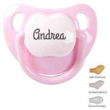 Chupete bebe personalizado rosa