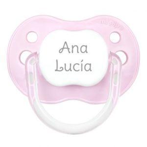 chupete personalizado rosa