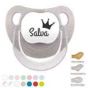chupetes personalizados con nombre y corona
