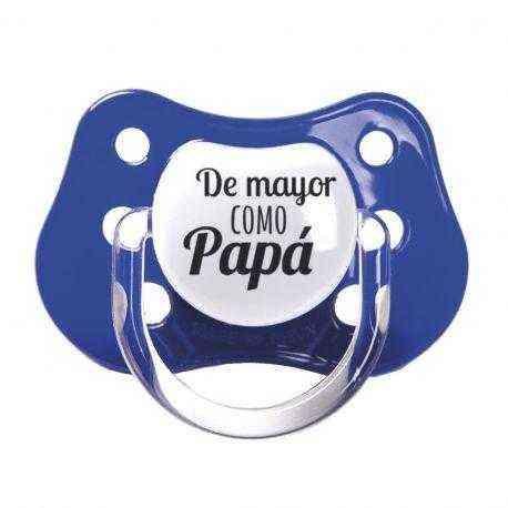 chupete azul papa
