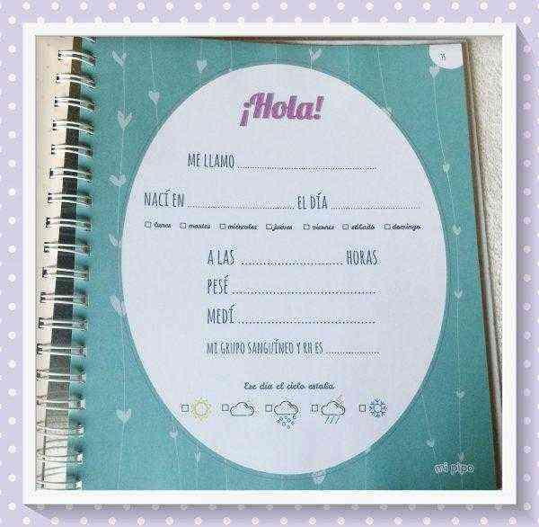 diario de embarazo completar
