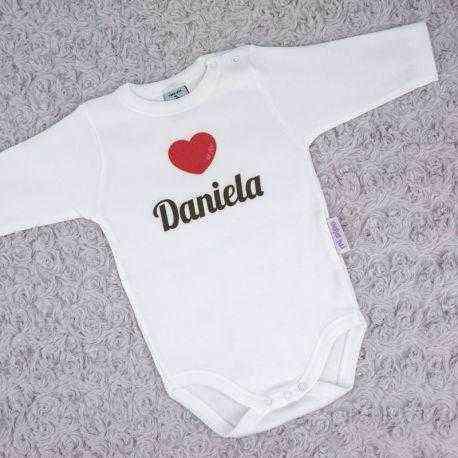 body corazon personalizado bebe