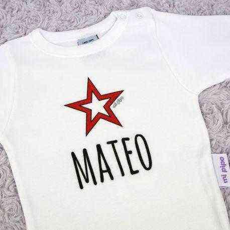 body personalizado estrella bebe