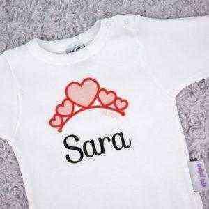 body corazones personalizado nombre