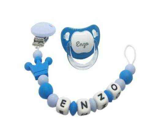 chupetero personalizado corona azul