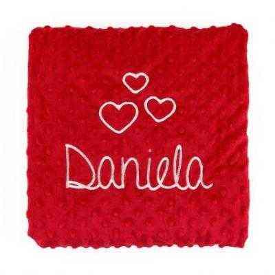 manta roja personalizada