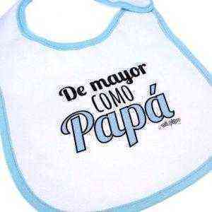 babero de mayor como papa