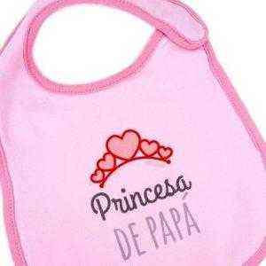 babero rosa princesa papa