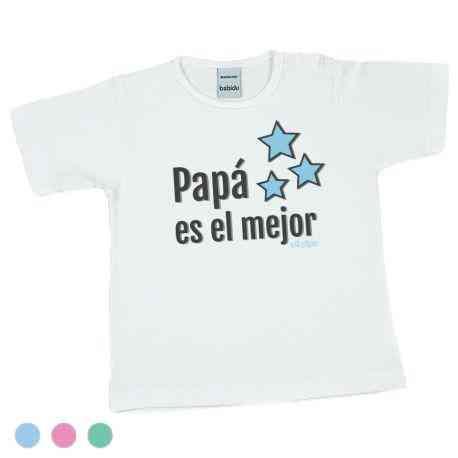camiseta bebe papa es el mejor
