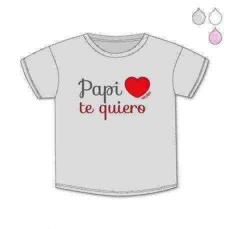 camiseta papi te quiero corazon