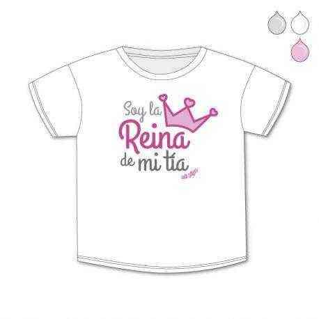 0ad392099 Camiseta de bebé Soy la reina de mi Tía Madrina Tío Padrino ...