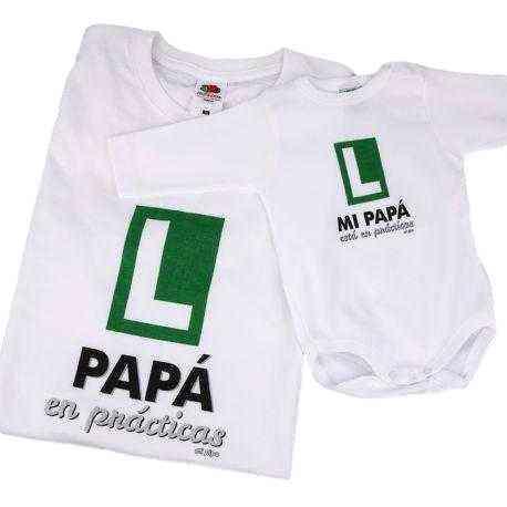 camiseta papa y bebe en practicas