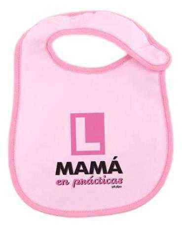 babero rosa mama en practicas