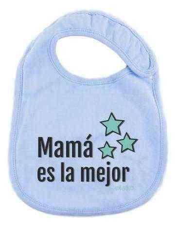 mama es la mejor azul estrellas