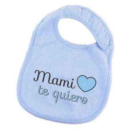 babero azul mami te quiero