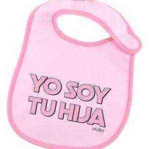 babero yo soy tu hija letra rosa