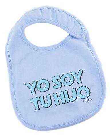 babero yo soy tu hijo azul