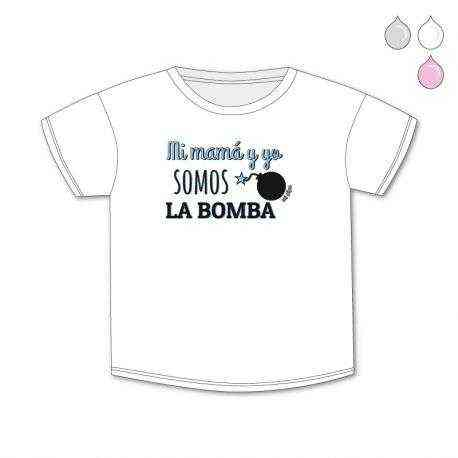 camiseta somos la bomba azul