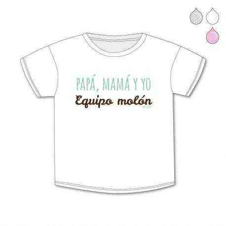 camiseta mama papa equipo molon