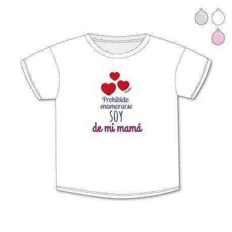 camiseta bebe soy de mi mama