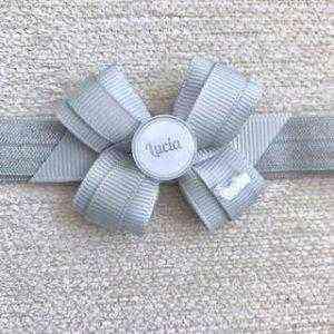 felpa lazo nombre personalizado gris