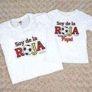 camisetas bebe soy de la roja