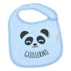babero panda personalizado