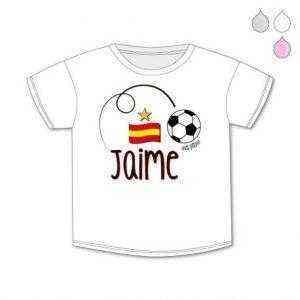 camiseta bandera españa niño