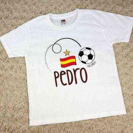 camiseta futbol personalizada niño