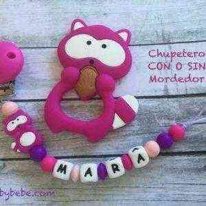 chupetero mapache rosa Personalizado