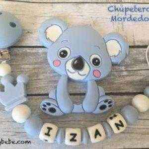 chupetero mordedor personalizado silicona koala