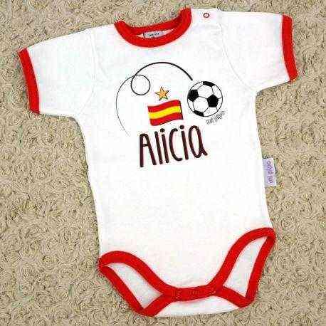 Body Mundial Fútbol Personalizado Nombre + Bandera - Lullaby Bebe 62e5fdcc1c057