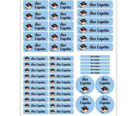 pegatinas etiquetas nombre personalizadas