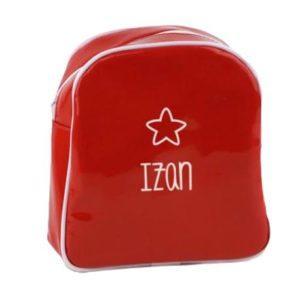 mochila infantil roja