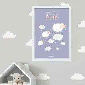 lámina personalizada dulces sueños ovejitas