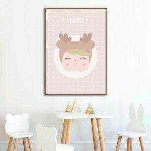 lámina decorativa personalizada niño