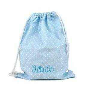 petates personalizados azul mochila