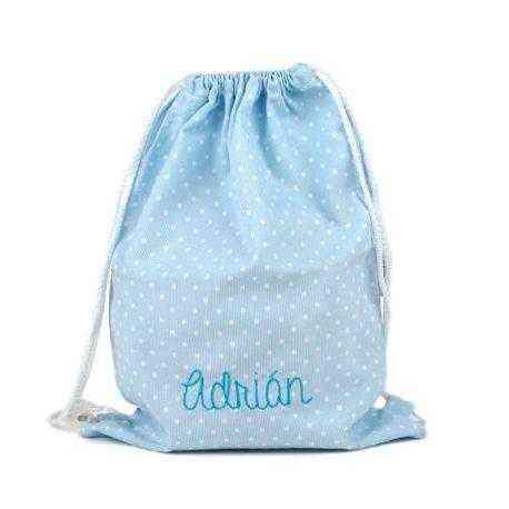 petate personalizado azul mochila