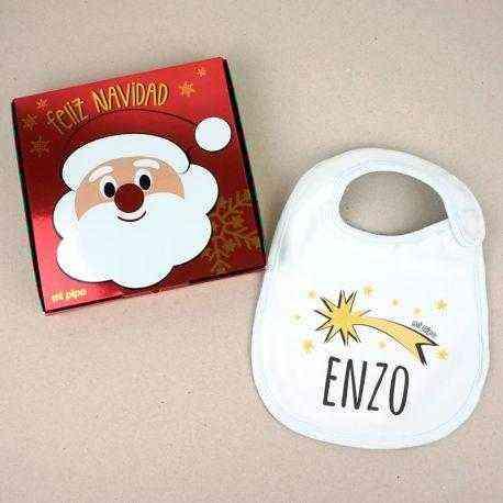 Babero navidad personalizado