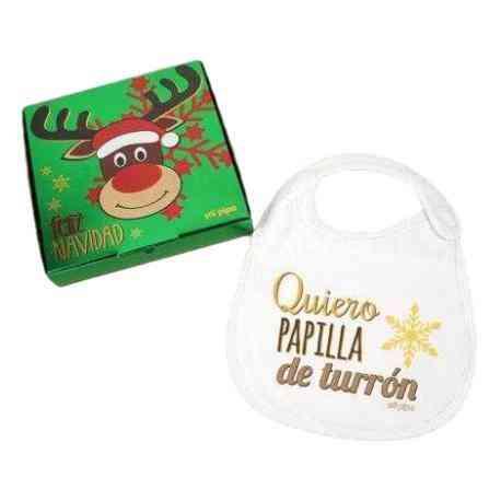 Babero navideño bebé navidad