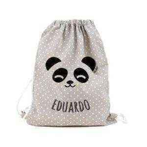 petate mochila panda infantil personalizado