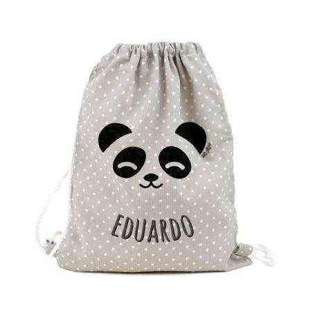petate panda infantil personalizado