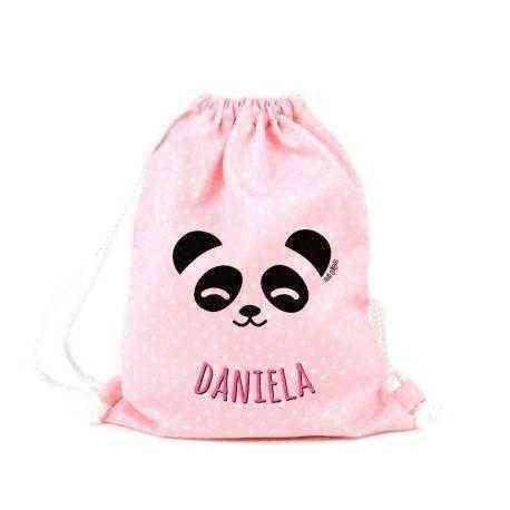 mochila petate bebe personalizado panda