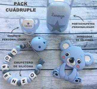 pack chupetero silicona koala