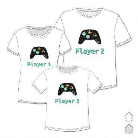 camiseta niño padre pack player