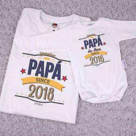 camiseta personalizada niño papá