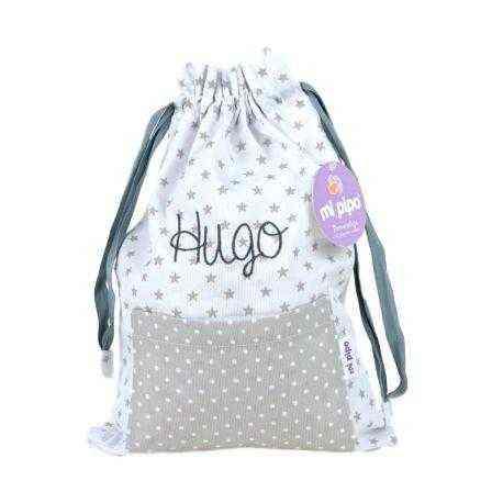saquito personalizado bolsa tela bebé