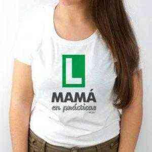 camiseta mamá en prácticas
